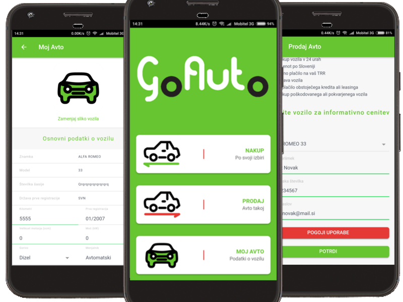GoAuto App showcase